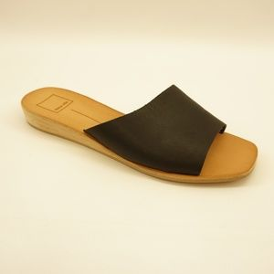 Dolce Vita Demi Wedge Slide Sandals 9.5 Black